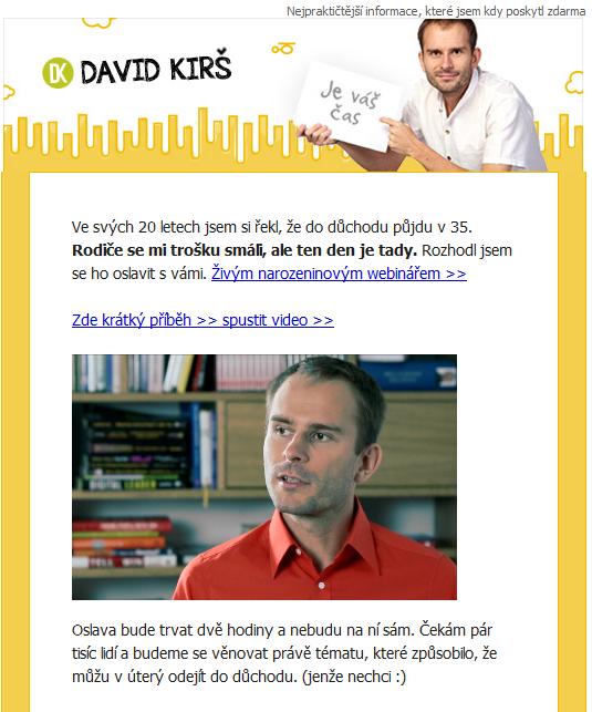 Kampaň v HTML - David Kirš