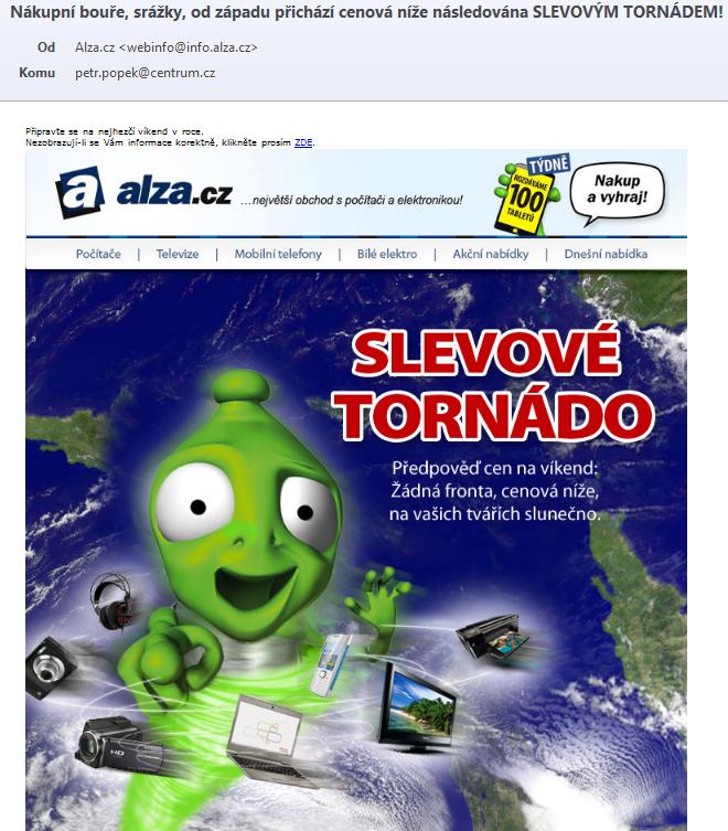 Kampaň na čisté grafice - alza.cz