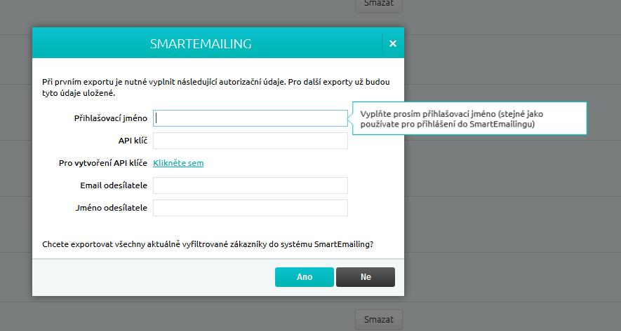 Reservanto_export do SmartEmailingu_krok2