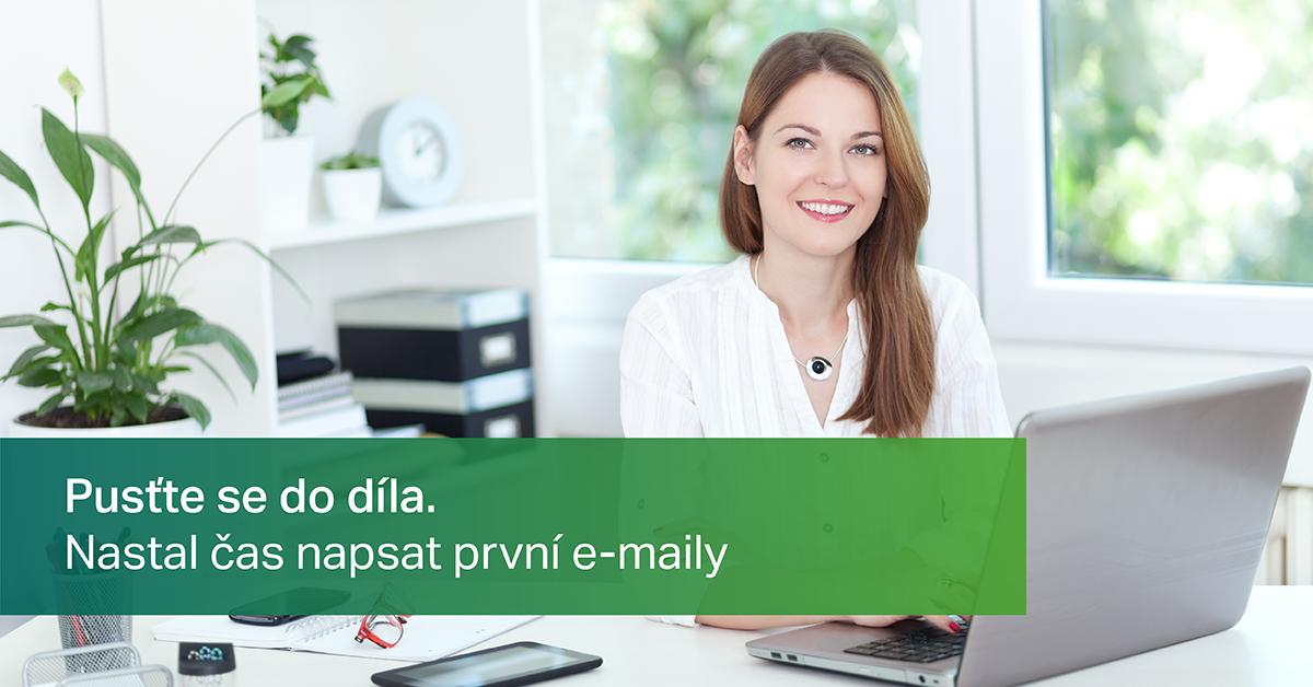 Pusťte se do díla a napište svůj první e-mail.